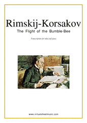 Cover icon of The Flight of the Bumblebee sheet music for tuba and piano by Nikolai Rimsky-Korsakov, classical score, advanced