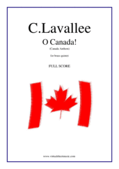 Cover icon of O Canada! (f.score) sheet music for brass quintet by Calixa Lavallee, easy/intermediate brass quintet