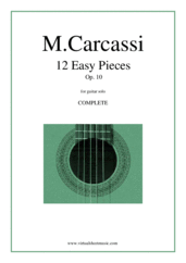 Cover icon of 12 Easy Pieces Op.10 (COMPLETE) sheet music for guitar solo by Matteo Carcassi