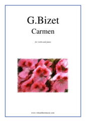 Cover icon of Carmen sheet music for violin and piano by Georges Bizet, classical score, intermediate violin