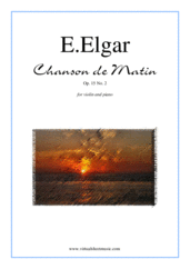 Cover icon of Chanson de Matin Op. 15 No. 2 sheet music for violin and piano by Edward Elgar, classical score, intermediate/advanced