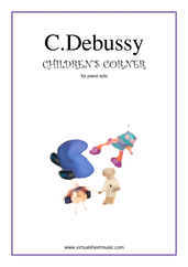 Cover icon of Children's Corner sheet music for piano solo by Claude Debussy, classical score, intermediate skill level
