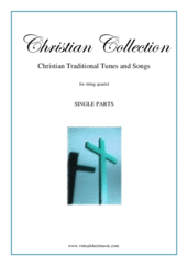 Cover icon of Christian Collection, Traditional Tunes and Songs (parts) sheet music for string quartet, easy