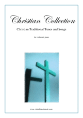 Cover icon of Christian Collection, Traditional Tunes and Songs sheet music for viola and piano, easy