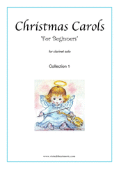 "Cover icon of Christmas Sheet Music and Carols  ""For Beginners"", (all the collections, 1-3) for clarinet solo, beginner skill level"