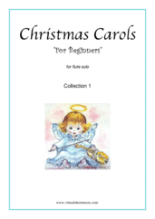 "Cover icon of Christmas Sheet Music and Carols ""For Beginners"", coll.1 for flute solo, beginner flute"