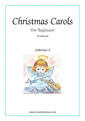 "Cover icon of Christmas Sheet Music and Carols ""For Beginners"", coll.3 for cello solo, beginner skill level"