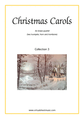 Cover icon of Christmas Sheet Music and Carols, coll.3 for brass quartet, intermediate skill level