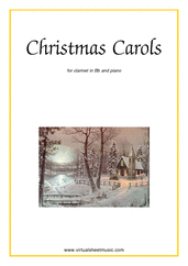 Cover icon of Christmas Sheet Music and Carols, coll.1 for clarinet and piano, easy