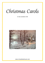 Cover icon of Christmas Sheet Music and Carols (all the collections, 1-3) for two clarinets, easy duet