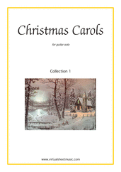 Cover icon of Christmas Sheet Music and Carols, coll.1 for guitar solo, easy/intermediate skill level