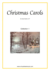 Cover icon of Christmas Sheet Music and Carols, coll.1 for two horns, easy/intermediate duet