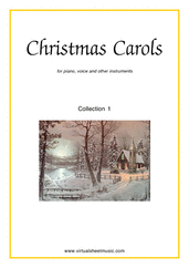 Christmas Carols (all the collections, 1-3) for piano, voice or other instruments - christmas organ sheet music