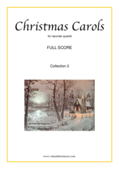 Cover icon of Christmas Sheet Music and Carols, coll.2 (f.score) for recorder quartet, easy