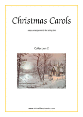 Cover icon of Christmas Sheet Music and Carols, coll.2 for string trio, easy