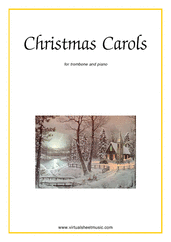 Cover icon of Christmas Sheet Music and Carols (all the collections, 1-3) for trombone and piano, easy