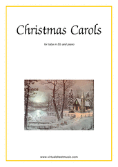 Cover icon of Christmas Sheet Music and Carols, coll.1 for tuba in Eb and piano, easy
