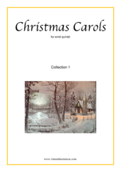 Cover icon of Christmas Sheet Music and Carols, coll.1 for wind quintet, easy/intermediate skill level