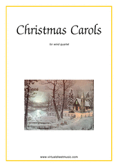 Cover icon of Christmas Sheet Music and Carols, coll.1 for wind quartet, easy skill level
