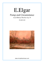 Cover icon of Pomp and Circumstance Op.39 sheet music for piano solo by Edward Elgar, classical score, intermediate/advanced