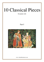 Cover icon of 10 Classical Pieces collection 1 sheet music for piano solo, classical score, easy skill level