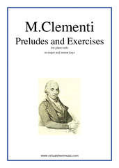 Cover icon of Preludes and Excercises sheet music for piano solo by Muzio Clementi