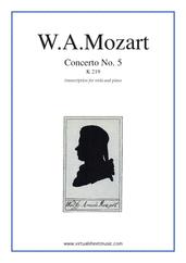 Concerto No. 5 in A major K219
