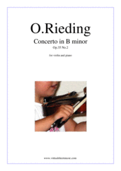 Cover icon of Concerto in B minor Op.35 No.2 sheet music for violin and piano by Oskar Rieding, classical score, easy/intermediate