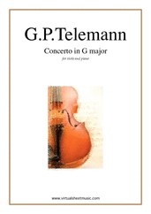 Concerto in G major for viola and piano - advanced georg philipp telemann sheet music