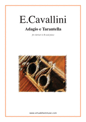 Cover icon of Adagio e Tarantella sheet music for clarinet and piano by Ernesto Cavallini, classical score, intermediate/advanced