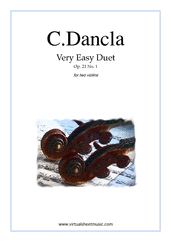 Cover icon of Very Easy Duet Op.23 No.1 sheet music for two violins by Charles Dancla, classical score, easy duet