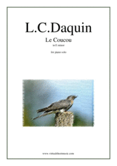 Cover icon of Le Coucou in E minor sheet music for piano solo by Louis-Claude Daquin, classical score, advanced