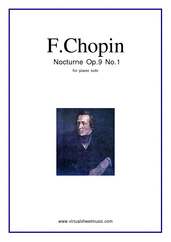 Cover icon of Nocturne Op.9 No.1 sheet music for piano solo by Frederic Chopin