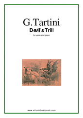Cover icon of Devil's Trill Sonata sheet music for violin and piano by Giuseppe Tartini, classical score, advanced