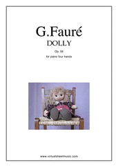 Cover icon of Dolly Op.56 sheet music for piano four hands by Gabriel Faure, classical score, intermediate skill level