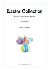 Cover icon of Easter Collection - Easter Hymns and Tunes (parts) sheet music for wind quartet, intermediate skill level