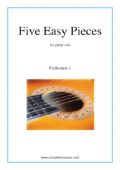 Cover icon of Five Easy Pieces (coll. 1) sheet music for guitar solo