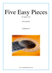 Cover icon of Five Easy Pieces (coll. 2) sheet music for guitar solo, classical score, easy skill level
