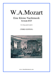 Cover icon of Eine Kleine Nachtmusik (parts) sheet music for string quartet by Wolfgang Amadeus Mozart, classical score, intermediate