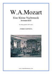 Cover icon of Eine Kleine Nachtmusik (f.score) sheet music for string quartet by Wolfgang Amadeus Mozart, classical score, intermediate