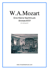 Cover icon of Eine Kleine Nachtmusik sheet music for wind quartet (2) by Wolfgang Amadeus Mozart, classical score, intermediate