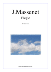 Cover icon of Elegie sheet music for piano solo by Jules Massenet, classical score, intermediate