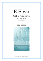 Cover icon of Concerto in E minor Op.85 sheet music for cello and piano by Edward Elgar, classical score, advanced