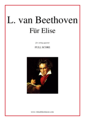 Cover icon of Fur Elise (f.score) sheet music for string quartet by Ludwig van Beethoven, classical score, easy/intermediate