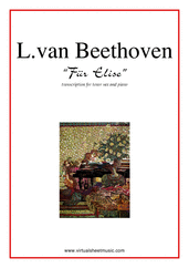 Cover icon of Fur Elise sheet music for tenor saxophone and piano by Ludwig van Beethoven, classical score, easy/intermediate skill level