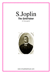 Cover icon of The Entertainer (parts) sheet music for brass quartet, version 1 by Scott Joplin, classical score, intermediate skill level