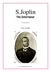 Cover icon of The Entertainer (f.score) sheet music for brass quartet, version 1 by Scott Joplin, classical score, intermediate