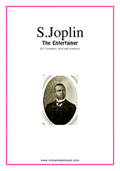 Cover icon of The Entertainer (parts) sheet music for brass quartet, version 2 by Scott Joplin, classical score, intermediate brass quartet, version 2