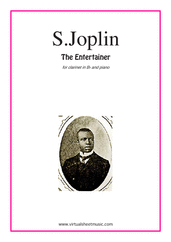 Cover icon of The Entertainer sheet music for clarinet and piano by Scott Joplin, classical score, intermediate skill level