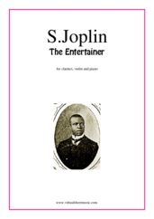 Cover icon of The Entertainer sheet music for clarinet, violin and piano by Scott Joplin, classical score, intermediate